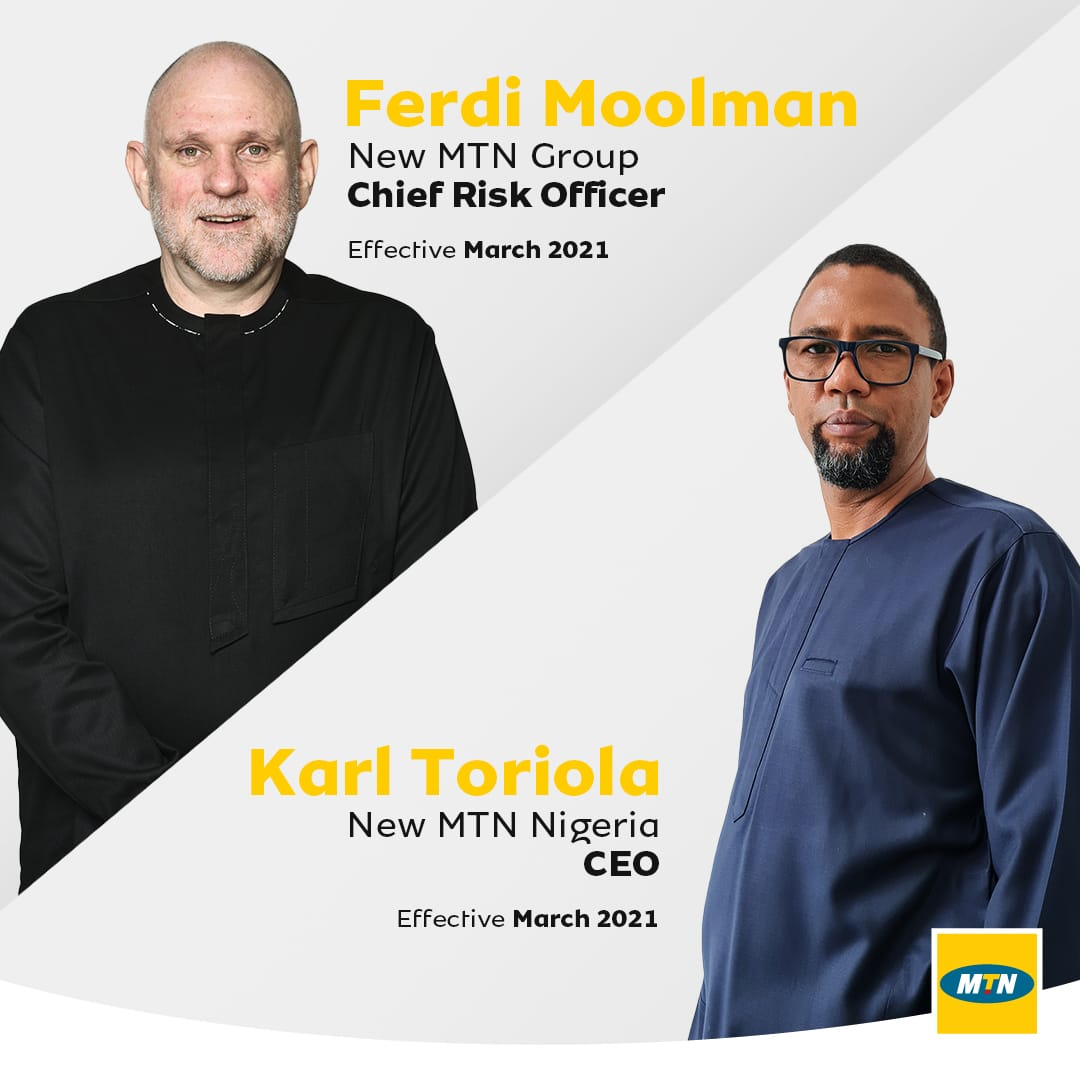 MTN announces new MTN Group chief risk officer and MTN Nigeria CEO